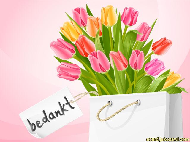 jakosawi e cards   bedankt tulpen