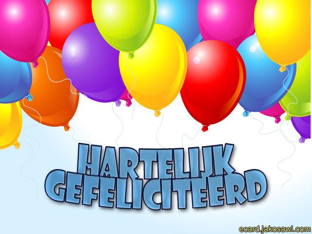 van harte gefeliciteerd ballonnen