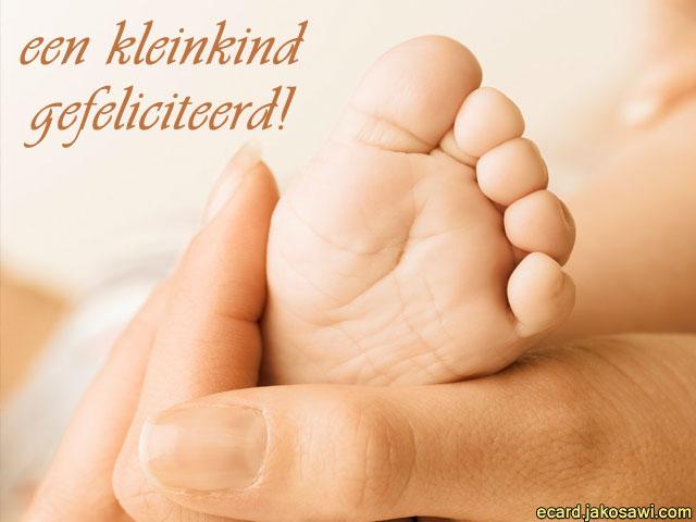 gefeliciteerd baby geboren