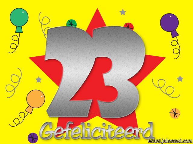 Verjaardag 23 Jaar