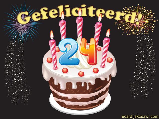 Gefeliciteerd 24 Jaar