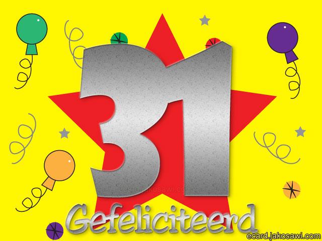 31 Jaar Verjaardag
