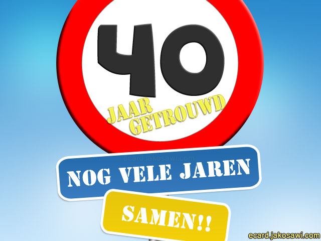 40 Jaar Getrouwd Humor