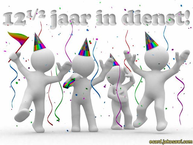 jubileum 12 5 jaar Gratis Ecard 12 5 Jaar In Dienst   ARCHIDEV jubileum 12 5 jaar