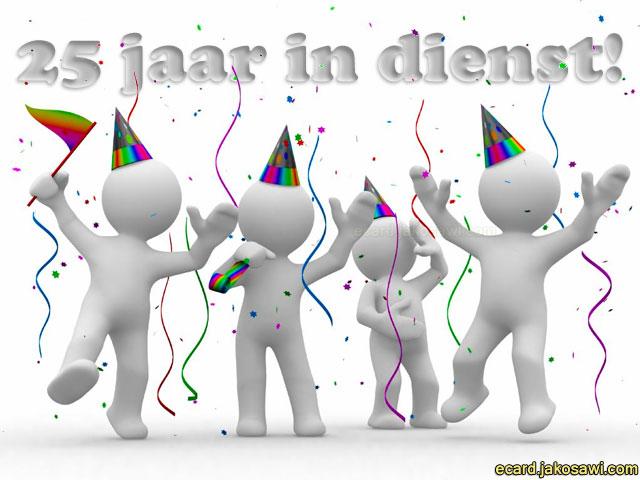 felicitatie 25 jaar in dienst Gefeliciteerd 25 Jarig Jubileum Werk   ARCHIDEV felicitatie 25 jaar in dienst
