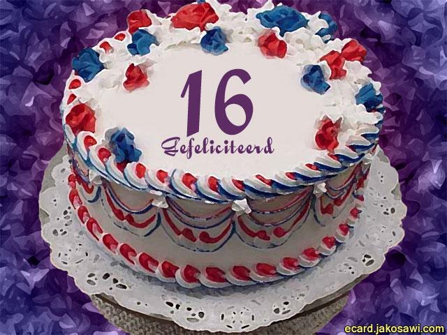 taart 16 jaar jakosawi e cards   16 jaar taart   taart 16 jaar