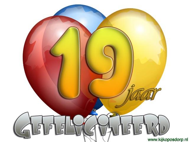 Jakosawi E Cards 19 Jaar Ballon