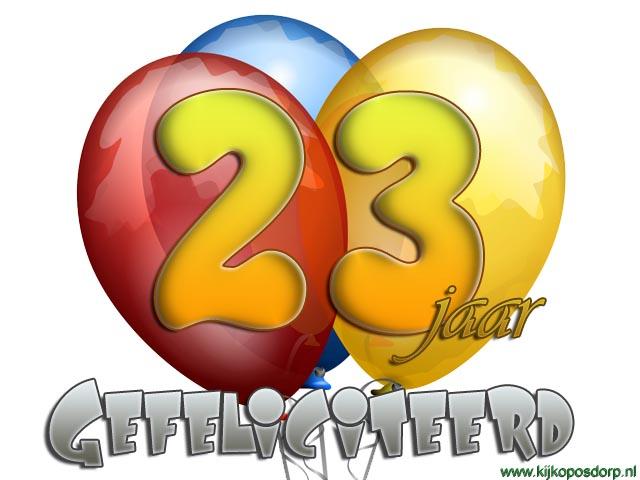 gefeliciteerd 23 jaar Gefeliciteerd Met Je Verjaardag 23 Jaar   ARCHIDEV gefeliciteerd 23 jaar