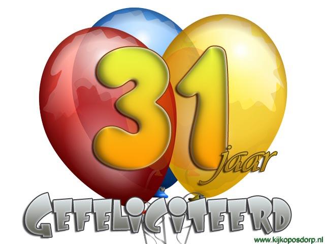 gefeliciteerd 31 jaar Hartelijk Gefeliciteerd 31 Jaar   ARCHIDEV gefeliciteerd 31 jaar