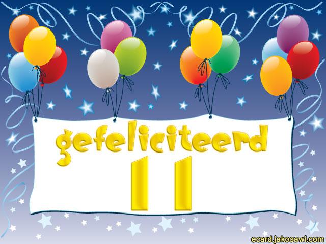 11 jaar gefeliciteerd Afbeelding Gefeliciteerd 11 Jaar   ARCHIDEV 11 jaar gefeliciteerd