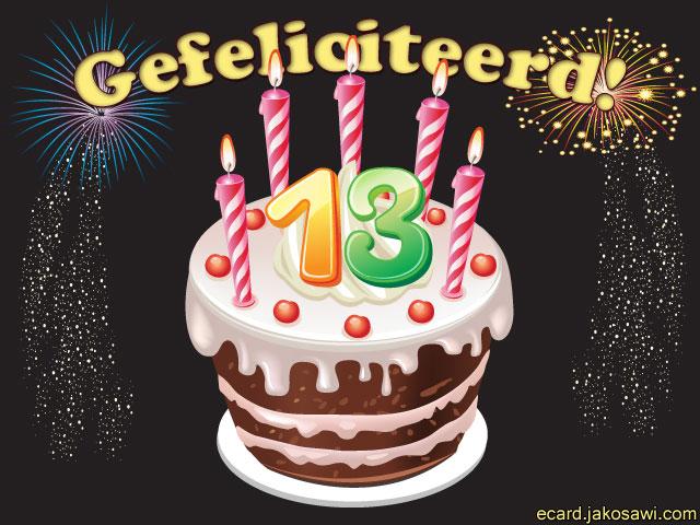Verjaardagskaart 13 Jaar Ezk 46 Wofosogo