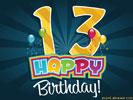 gefeliciteerd met je 13e verjaardag 13e Verjaardag e cards @ ecard.jakosawi.Verjaardag: Leeftijd  gefeliciteerd met je 13e verjaardag