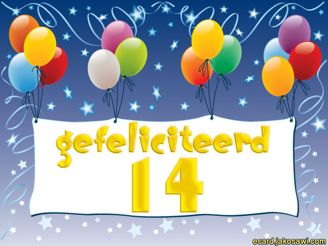 gefeliciteerd 14 jaar Van Harte Gefeliciteerd 14 Jaar   ARCHIDEV gefeliciteerd 14 jaar