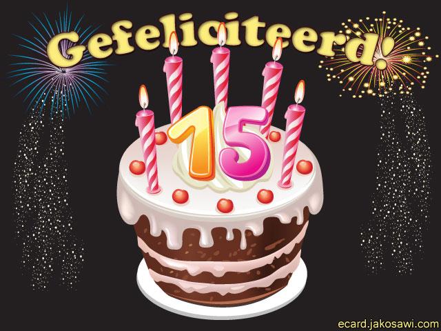verjaardagskaart 15 jaar Verjaardagskaart 15 Jaar Gratis   ARCHIDEV verjaardagskaart 15 jaar