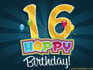 16e Verjaardag Gratis Wenskaarten Ecard Jakosawi Com Verjaardag