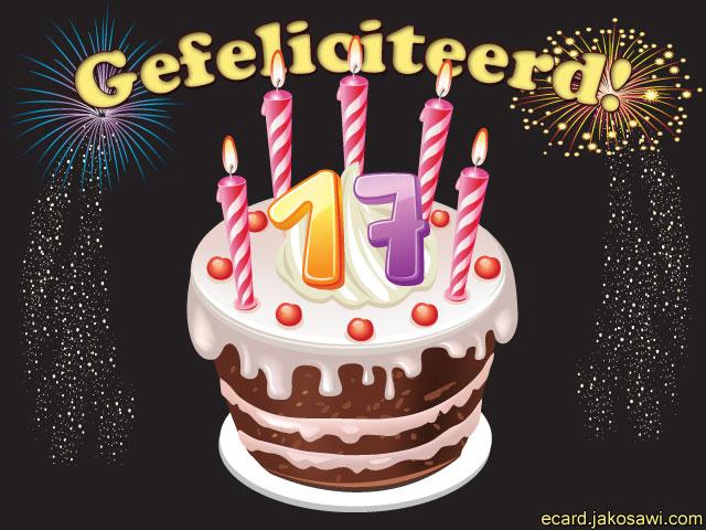 jarig 17 jaar Felicitatie 17 Jaar   ARCHIDEV jarig 17 jaar