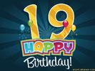 gefeliciteerd met je 19e verjaardag 19e Verjaardag e cards @ ecard.jakosawi.Verjaardag: Leeftijd  gefeliciteerd met je 19e verjaardag