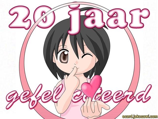 Jakosawi E Cards 20 Jaar Anime