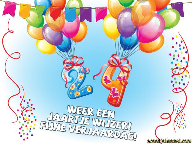 Verjaardagskaart 24 Jaar Irq 57 Wofosogo