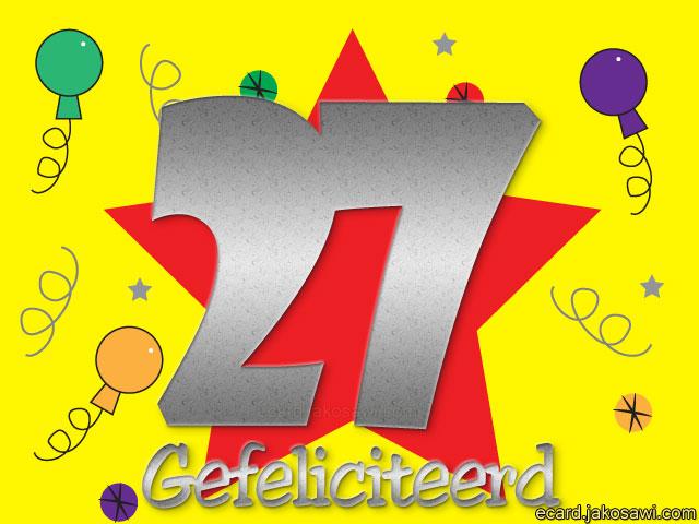 gefeliciteerd 27 jaar Felicitatie Verjaardag 27 Jaar   ARCHIDEV gefeliciteerd 27 jaar