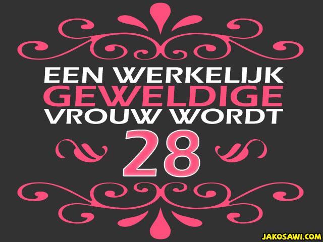 28 jaar verjaardag Verjaardag 28 Jaar Vrouw   ARCHIDEV 28 jaar verjaardag