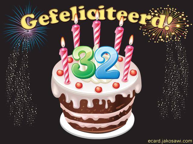 gefeliciteerd 32 jaar Van Harte Gefeliciteerd Met Je 32Ste Verjaardag   ARCHIDEV gefeliciteerd 32 jaar