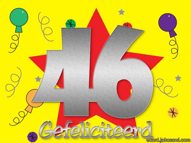gefeliciteerd 46 jaar Afbeelding Gefeliciteerd 46 Jaar   ARCHIDEV gefeliciteerd 46 jaar