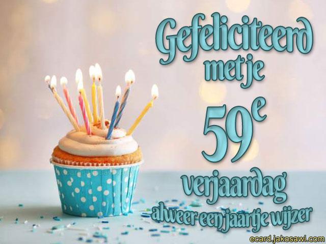 Jakosawi E Cards 59 Jaar Cupcake