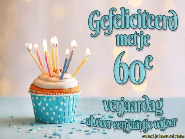 60 Jaar Verjaardag Verrassing.Jakosawi E Cards 60 Jaar Cupcake