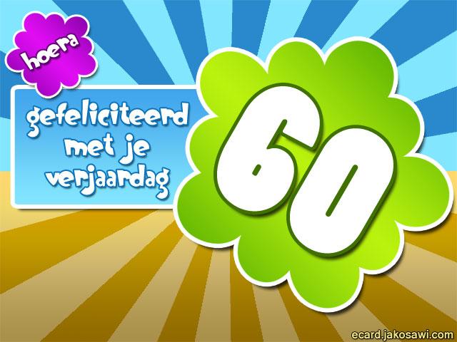 verjaardagskaart 60 jaar gratis Gratis E Cards Verjaardag 60 Jaar   ARCHIDEV verjaardagskaart 60 jaar gratis