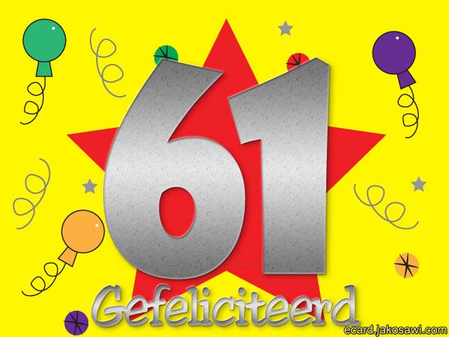 gefeliciteerd 61 Gefeliciteerd 61 Jaar   ARCHIDEV gefeliciteerd 61