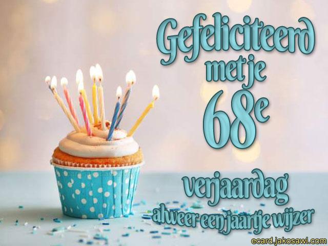 68 jaar jakosawi e cards   68 jaar cupcake   68 jaar