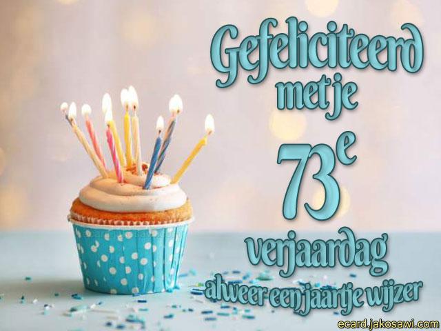 73 jaar jakosawi e cards   73 jaar cupcake   73 jaar