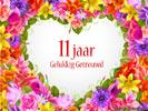 Huwelijk Huwelijksverjaardag 11 Jaar Gratis Wenskaarten