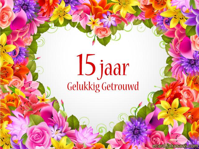 jakosawi e-cards - 15 jaar gelukkig getrouwd 1301 -