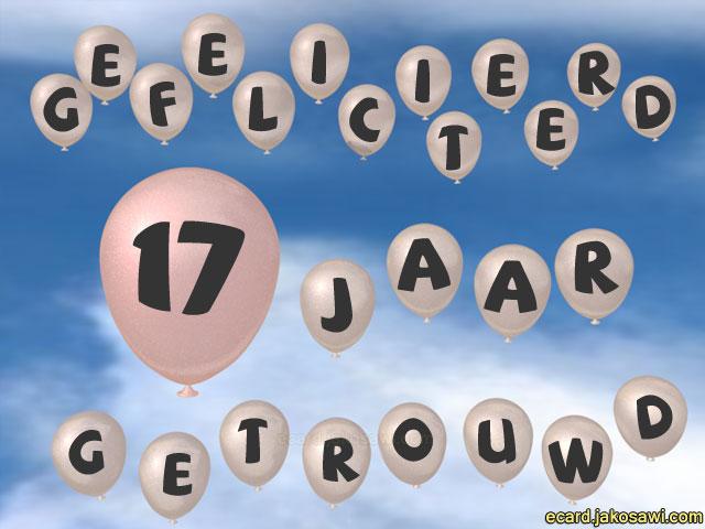 Jakosawi E Cards 17 Jaar Ballon Lucht