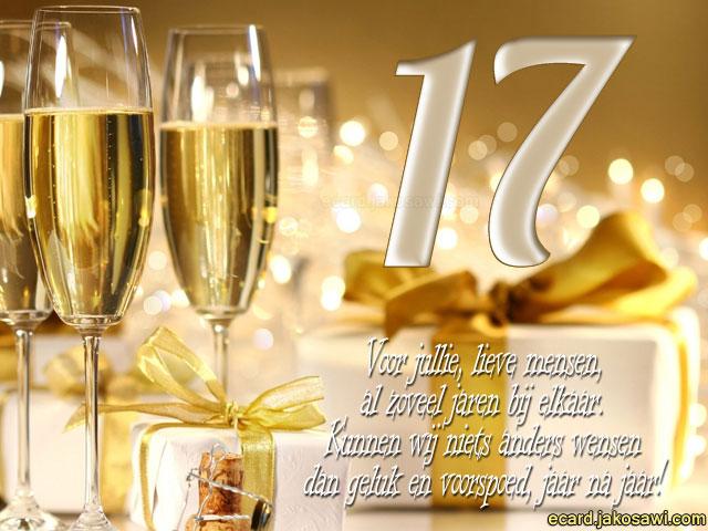 Jakosawi E Cards 17 Jaar Champagne 1401