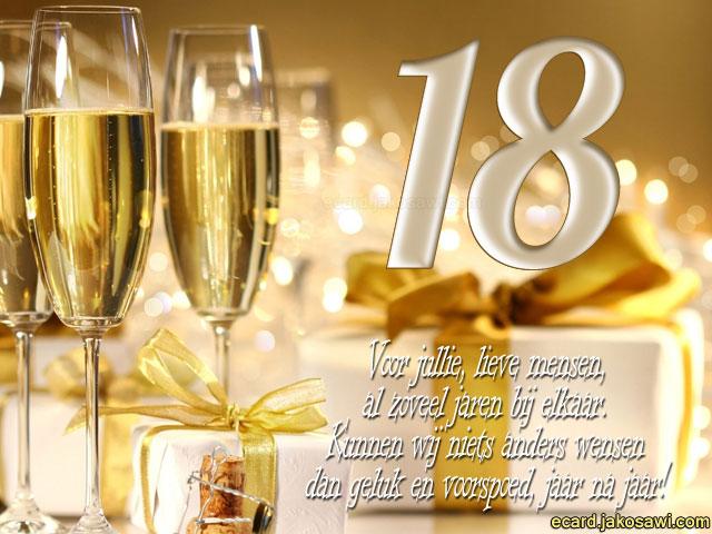 18 jaar samen jakosawi e cards   18 jaar champagne 1401   18 jaar samen