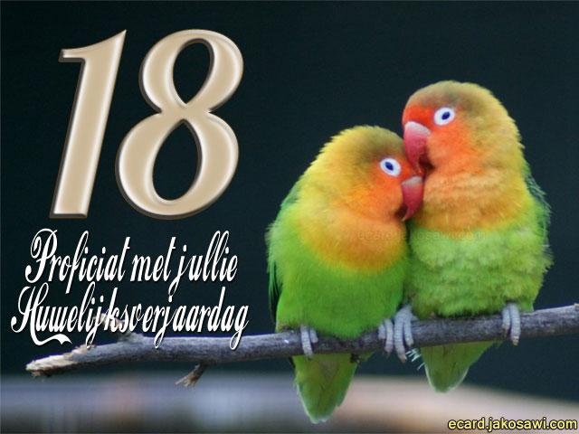 18 jaar samen jakosawi e cards   18 jaar lovebirds 1401   18 jaar samen
