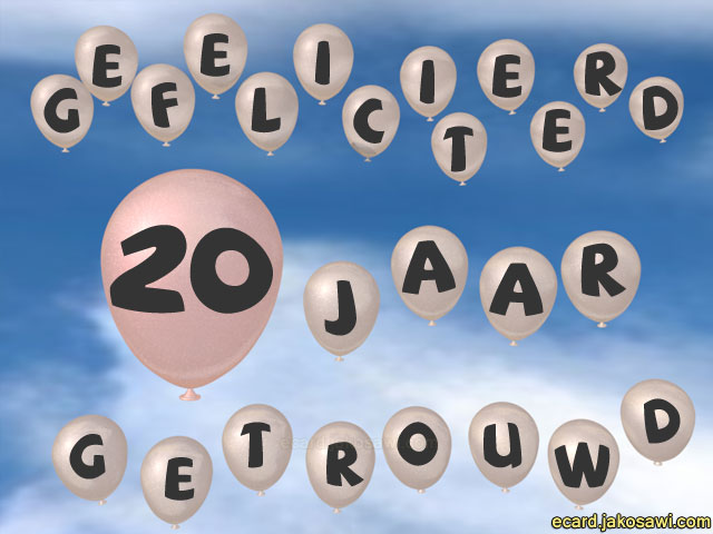 Verrassend jakosawi e-cards - 20 jaar ballon lucht - LP-58