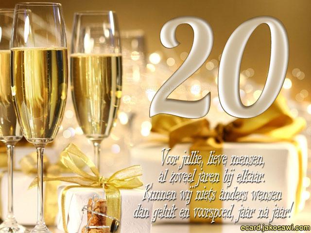 tekst 20 jaar getrouwd Afbeeldingen 20 Jarig Jubileum   ARCHIDEV tekst 20 jaar getrouwd