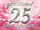 Verrassend Huwelijk: Huwelijksverjaardag 25 Jaar Gratis Wenskaarten - ecard AE-09