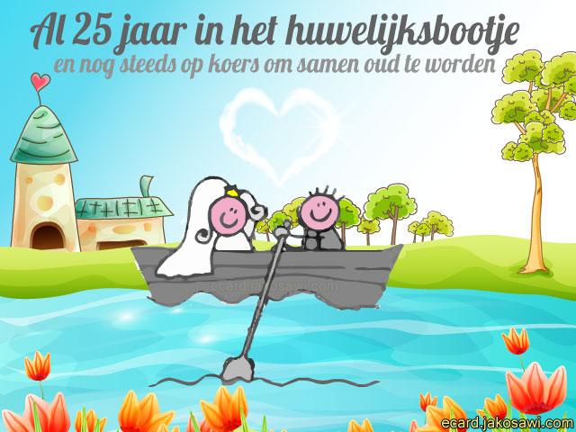 25 jarig huwelijk cartoon jakosawi e cards   25 jaar huwelijksbootje   25 jarig huwelijk cartoon