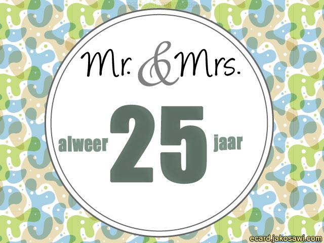 e cards 25 jaar getrouwd jakosawi e cards   25 jaar mr en mrs 1501   e cards 25 jaar getrouwd