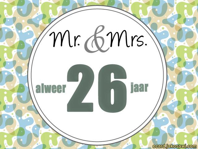 26 jaar getrouwd 26 Jaar Getrouwd Kaart   ARCHIDEV 26 jaar getrouwd