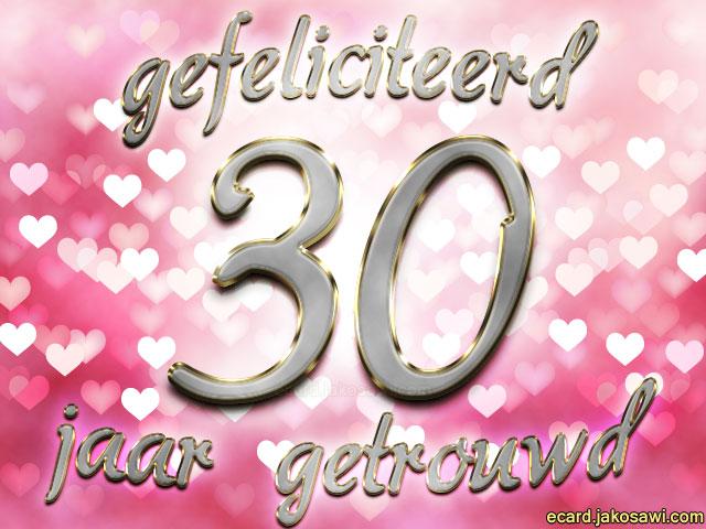 30 jaar getrouwd jubileum Afbeelding 30 Jarig Huwelijk   ARCHIDEV 30 jaar getrouwd jubileum