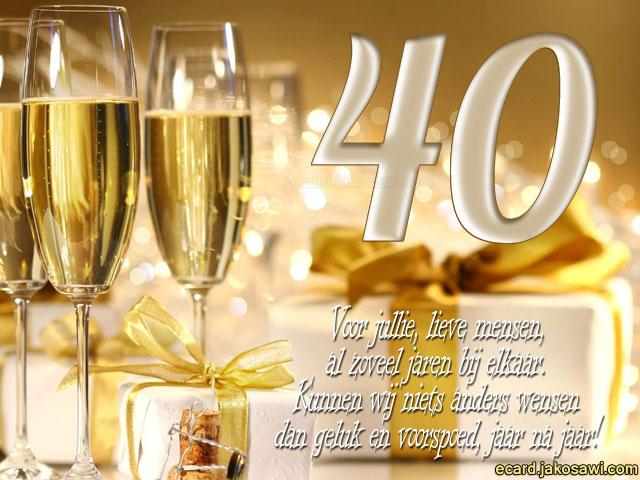 40 jaar e card Gratis E Cards 40 Jaar Huwelijk   ARCHIDEV 40 jaar e card