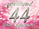 gedicht 44 jaar getrouwd Huwelijk: Huwelijksverjaardag 44 Jaar e cards @ ecard.jakosawi.com gedicht 44 jaar getrouwd