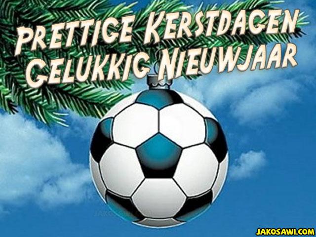 Afbeeldingsresultaat voor kerstplaatje voetbal